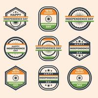 India Independence Day Label Collections vector