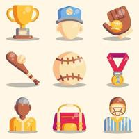 Softball Icon Collections vector