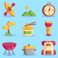Summer Camp Icon Collections vector