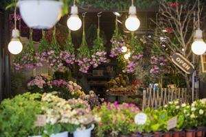Beautiful Korean flower shop photo