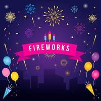 Fireworks Show at Night vector