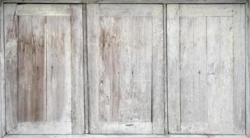 Old white wooden windows photo
