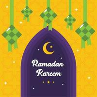 Ramadan Ketupat Background vector