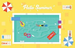 Swimming Pool Summer Concept vector