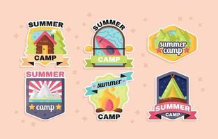 Summer Camp Sticker vector