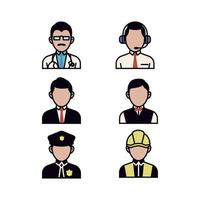 Set of People icons in Business profession vector