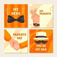 Parents Day Card Collection vector