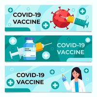 Vaccine Banner Collection vector