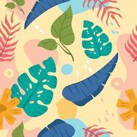 Tropical Leaves for Summer Celebration vector