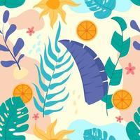 Summer Tropical Floral Concept vector