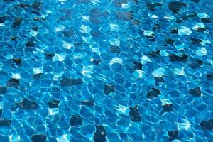 Abstract picture of tile of blue swimming pool photo