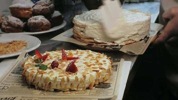 A Chef Frosts a Layer Cake video
