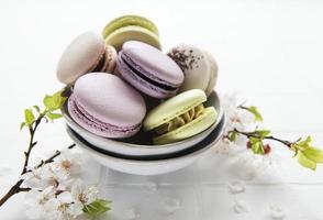 macarrones franceses coloridos foto