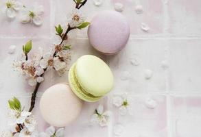 macarrones dulces franceses foto