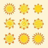 Set of Modern Icon Sun vector