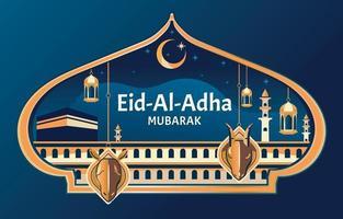Eid Al Adha Background Template vector