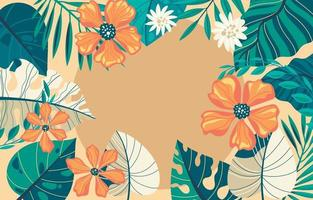 Modern Exotic Tropical Floral Background vector
