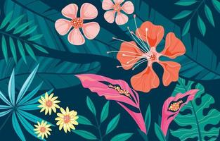 Modern Exotic Tropical Floral vector