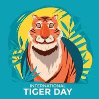 tarjeta del día internacional del tigre vector