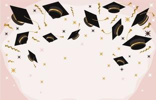 Creative Background with Photobooth Props for Graduation vector