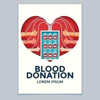 Donate Blood Concept Poster for World Blood Donor Day vector