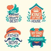 Set of Parents Day Quote Design vector