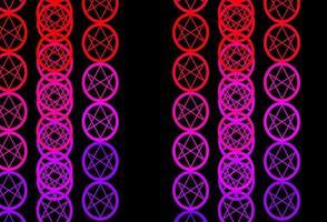 Plantilla de vector rosa púrpura oscuro con signos esotéricos