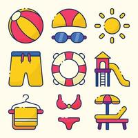 Swimming in Summer Icon Pack vector