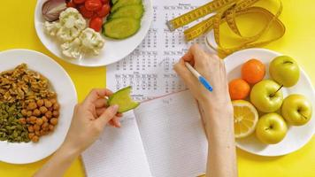 Food Diet Journal Being Used video