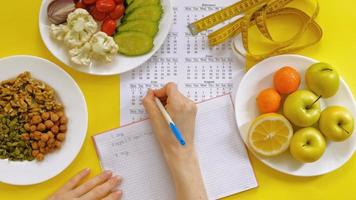 A Person Using a Food Journal video