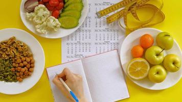 A Food Journal Being Used video