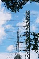 electricity power transmission tower photo