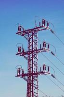 torre de transmisión de energía eléctrica foto