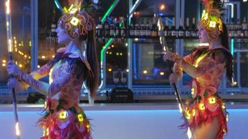 Women Dancing in Festive Costumes video