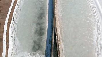 tiro aéreo de usina hidrelétrica video