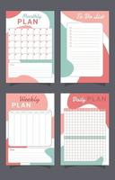 Calm Colors Journal Design vector