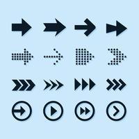 Set Of Arrow Element Icons vector