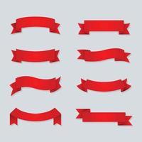 Set Of Ribbon Icons vector