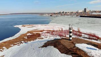 Drone View of a Frozen River Bed video