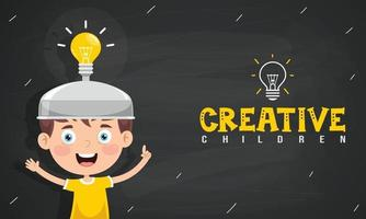 Concept Design For Creative Thinking vector