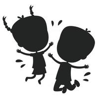 Concept Design With Kids Silhouette vector