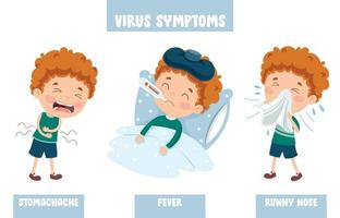 Little Kid Infected By Virus vector