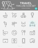 Set of Travel Vector Line Icons