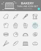 Set of  Bakery Vector Line Icons