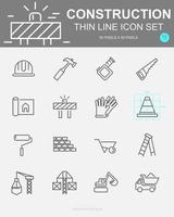 Set of  Construction Vector Line Icons