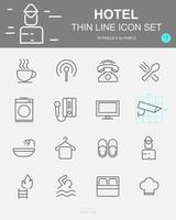 Set of  Hotel Vector Line Icons