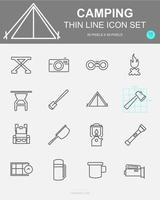 Set of Camping Vector Line Icons