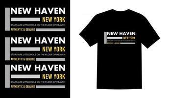 vector de diseño de camiseta de nueva york prinatble cielo nuevo