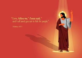 Follow Jesus conceptual illustration vector