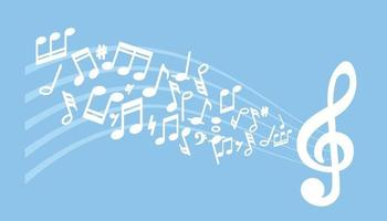 Musical Notes Music Chord Background vector